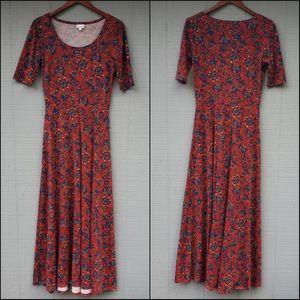 Lularoe Ana Maxi Dress Long Floral SS Medium
